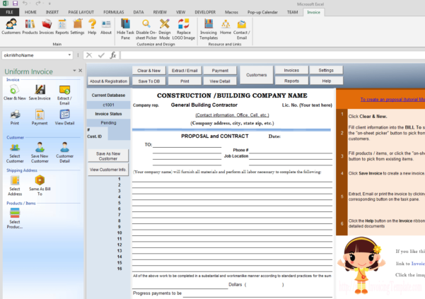 Construction Proposal Template For Construction Estimate Forms Templates