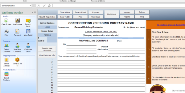 Construction Proposal Template Intended For Construction Estimate Form
