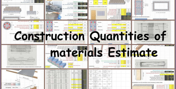 Construction Quantities Of Materials Estimate Intended For Construction Estimate Formula