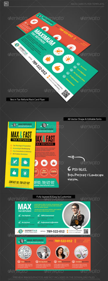 Corporate Tax Refund Financial Rack Card Flyerkatzeline And Bookkeeping Flyer Template Free