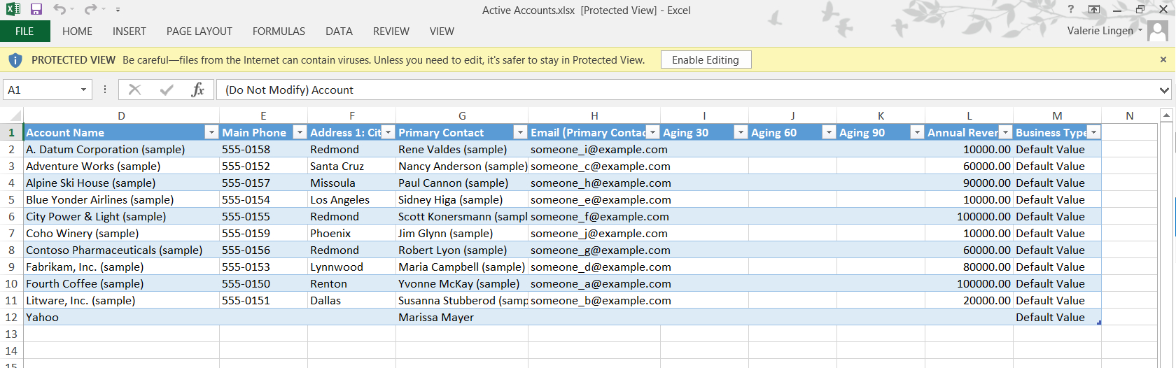 Creating Document Templates For Dynamics Crm 2016 | Ledgeview Partners In Dynamics Crm Excel Templates