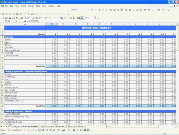 Daily Expenses Sheet In Excel Format Spreadsheet Examples Formatting With Excel Spreadsheet Template For Personal Expenses