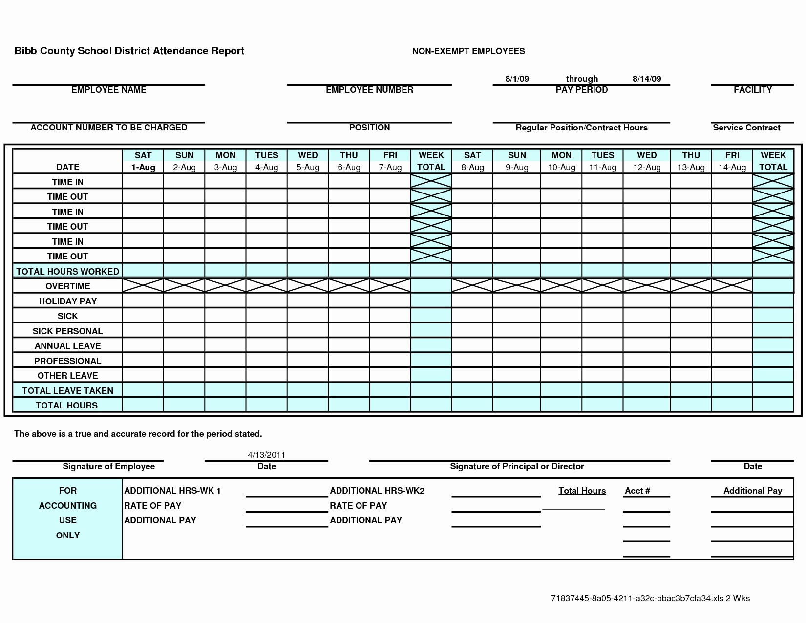 Daily Timesheet Excel Template Excel Time Sheet Template New Throughout Time Spreadsheet Template