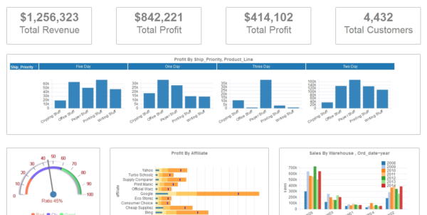 Dashboard Examples Gallery | Download Dashboard Visualization Within And Kpi Template Excel Download