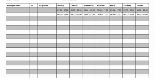 Design Portfolio Template Free. Blank Monthly Employee Schedule Throughout Monthly Employee Schedule Template