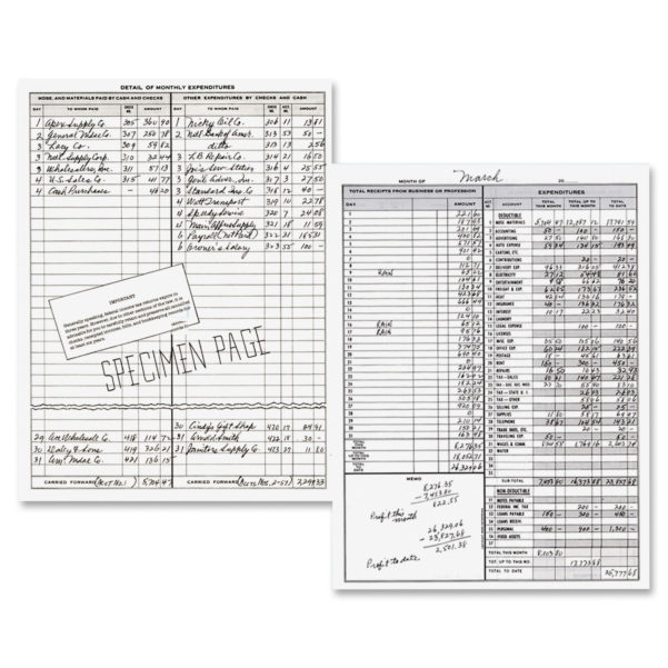 Dome, Dom600, Bookkeeping Record Book, 1 Each   Walmart And Monthly Bookkeeping Record Template