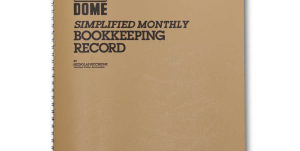 Dome Monthly Bookkeeping Record – The Dome Company In Monthly Bookkeeping Record Template