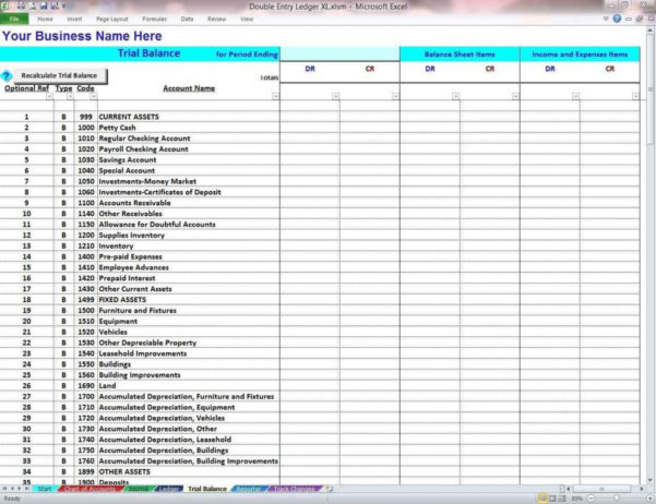 Double Entry Accounting Excel Spreadsheet | Papillon Northwan For Double Entry Bookkeeping Excel