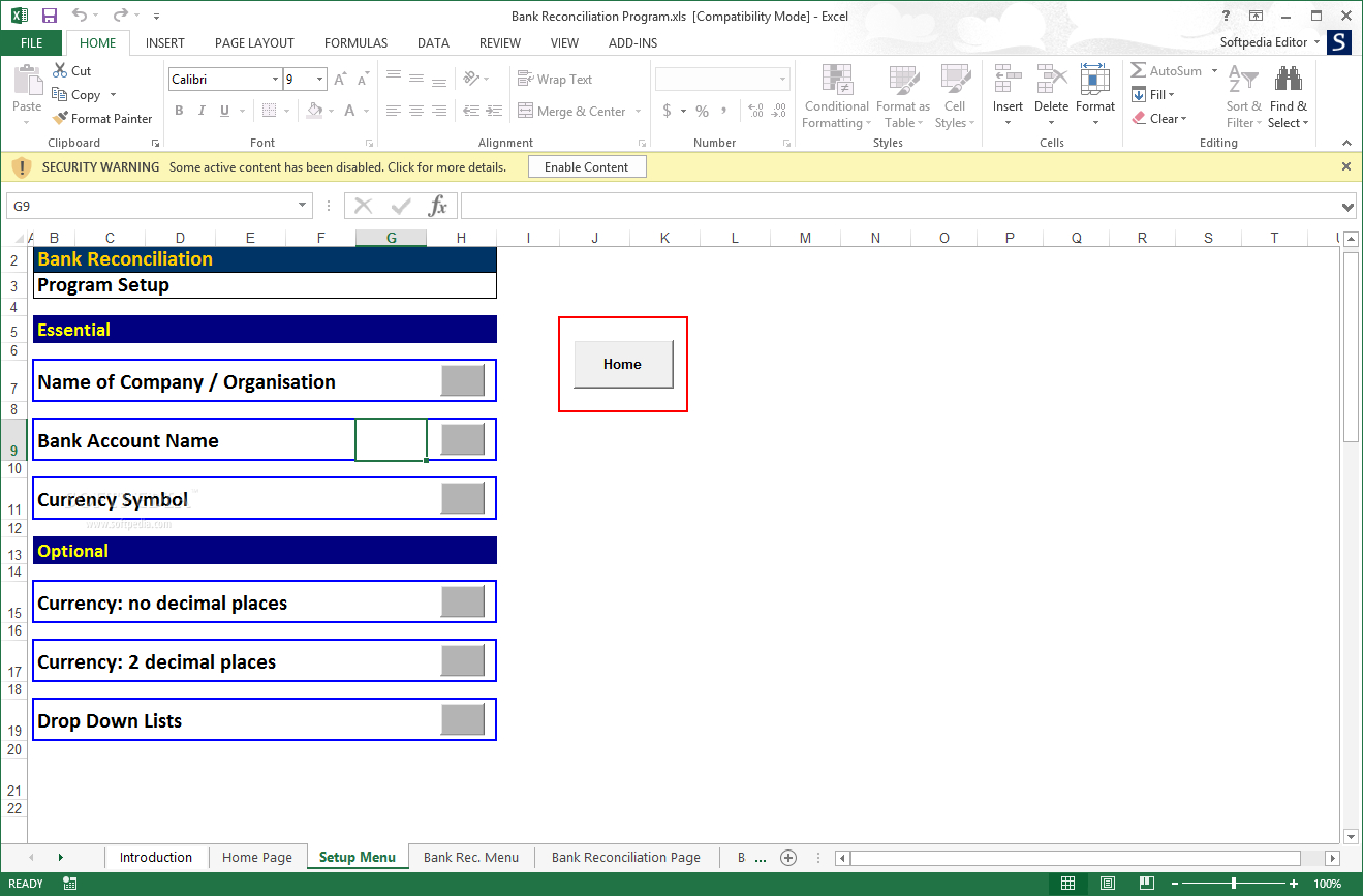 Download Bank Reconciliation Program 2.02 Throughout Excel Bank Account Template