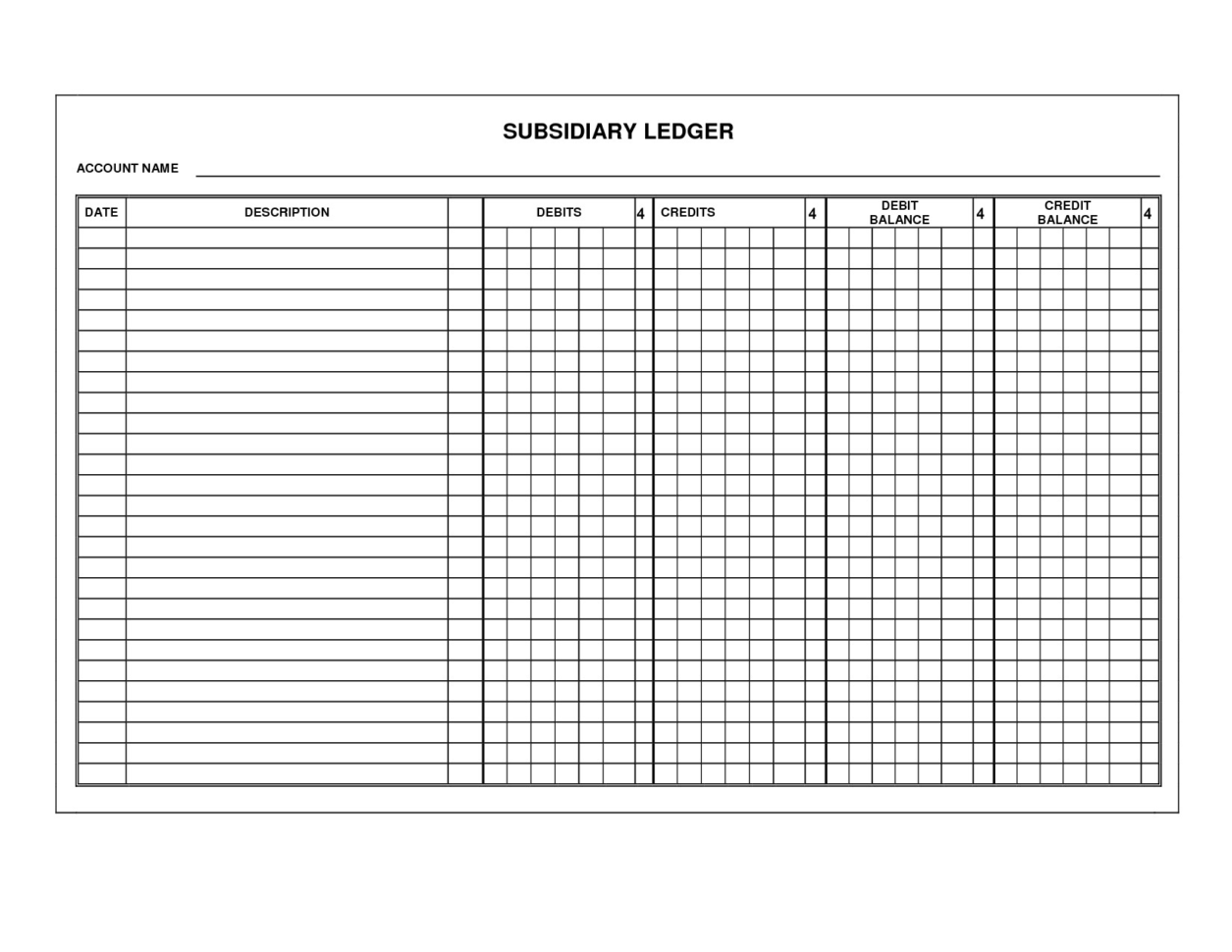 Download Basic Accounting Ledger Template | Eletromaniacos To Bookkeeping Ledger Template