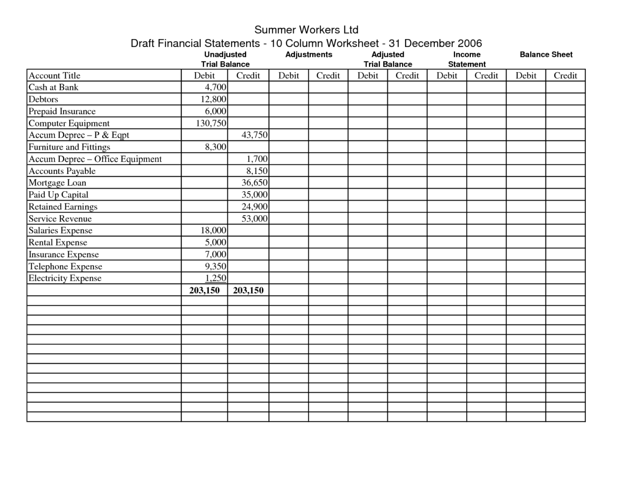 Download Excel Accounting Worksheet Template 1   Isipingo Secondary With Accounting Worksheet