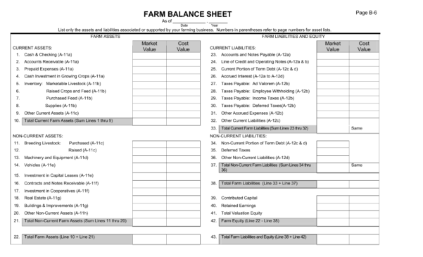 Download Farm Balance Sheet Template | Excel | Pdf | Rtf | Word Within Balance Sheet Template Excel