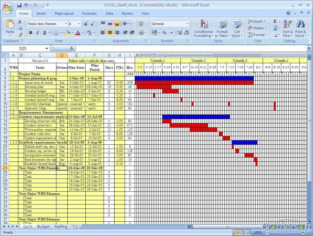 Download Free Gantt Chart, Gantt Chart Download Throughout Microsoft To Microsoft Office Gantt Chart Template Free