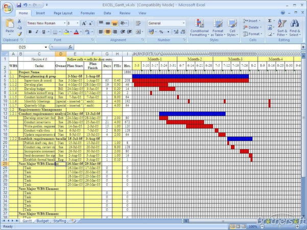 Download Free Gantt Chart, Gantt Chart Download Throughout Microsoft Within Gantt Chart Template Microsoft Office