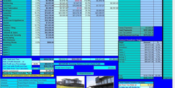 Download Free Too Easy Construction Estimating, Too Easy Inside Construction Estimating Spreadsheets Freeware