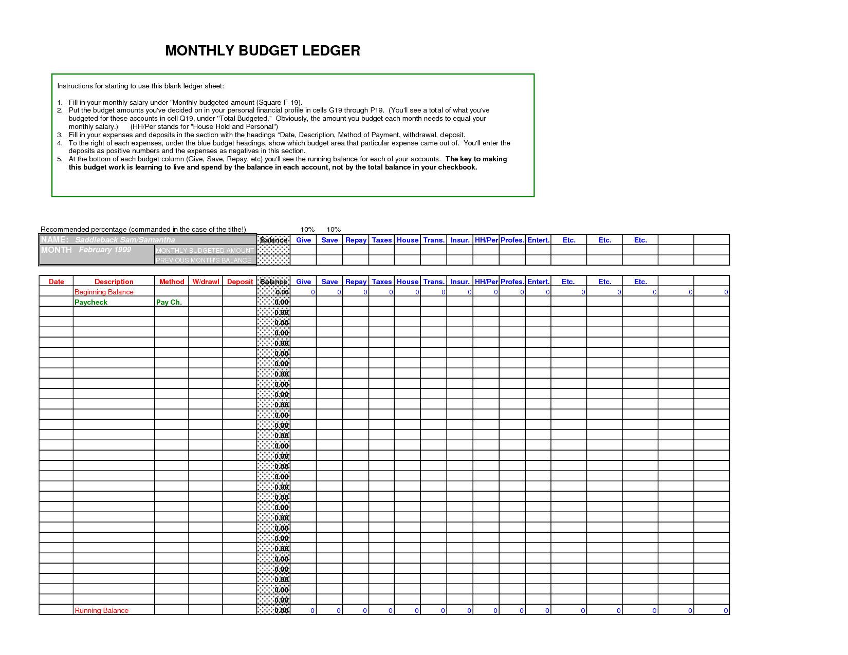 Download General Ledger Templates Docs For Excel Accounting Templates General Ledger
