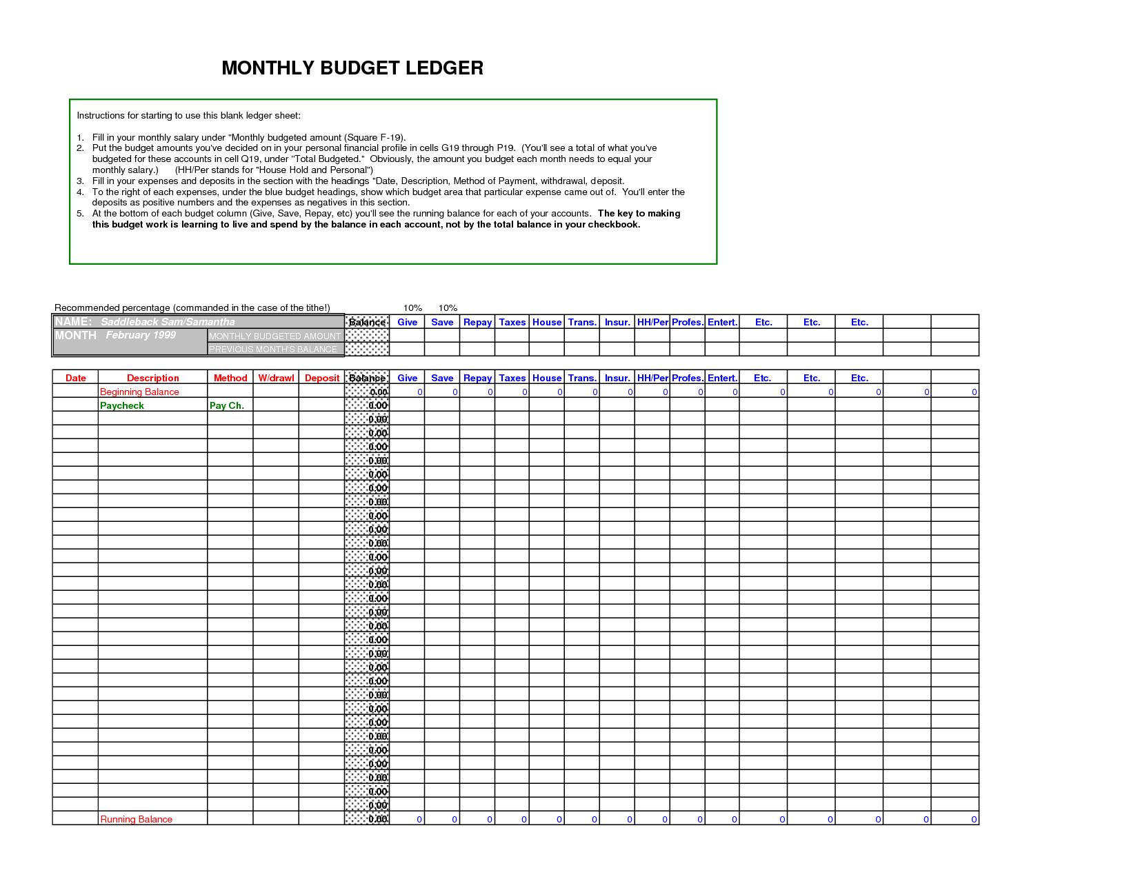 Download General Ledger Templates Docs For Excel Accounting Templates General Ledger