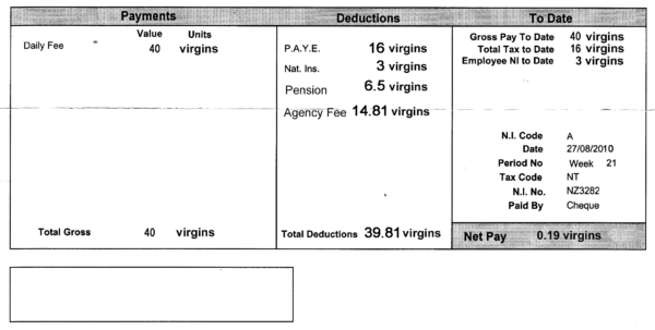 Download Payslip Template Sample Excel Of Salary Slip Basic Word 16 For Salary Statement Format In Excel