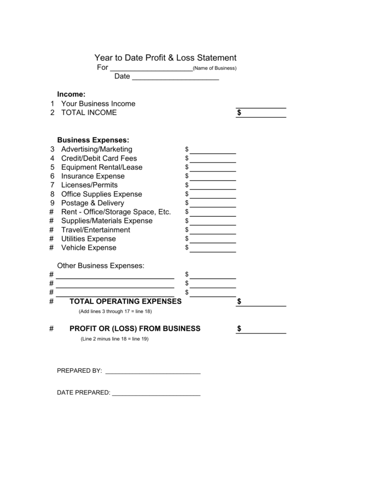 Download Profit And Loss Balance Sheet Template | Excel | Pdf | Rtf For Income Statement Template Word