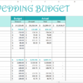 Easy Wedding Budget - Excel Template - Savvy Spreadsheets for Wedding Spreadsheet Templates
