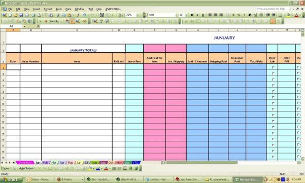 Ebay Inventory Spreadsheet | Laobingkaisuo With Ebay Accounting Inside Ebay Bookkeeping Spreadsheet Free