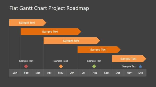 Editable Gantt Chart For Powerpoint Slidemodel And Gantt Chart With Gantt Chart Template For Powerpoint