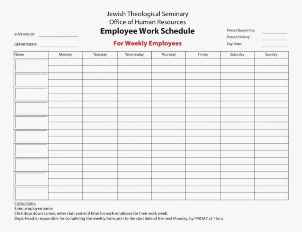 Employee Schedule Form Spreadsheet Template Examples Hours Sheet In Employee Hours Spreadsheet