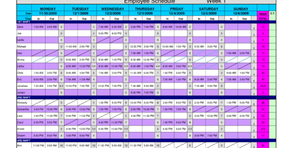 Employee Schedule Template Excel 10   Isipingo Secondary Within Employee Schedule Template Excel
