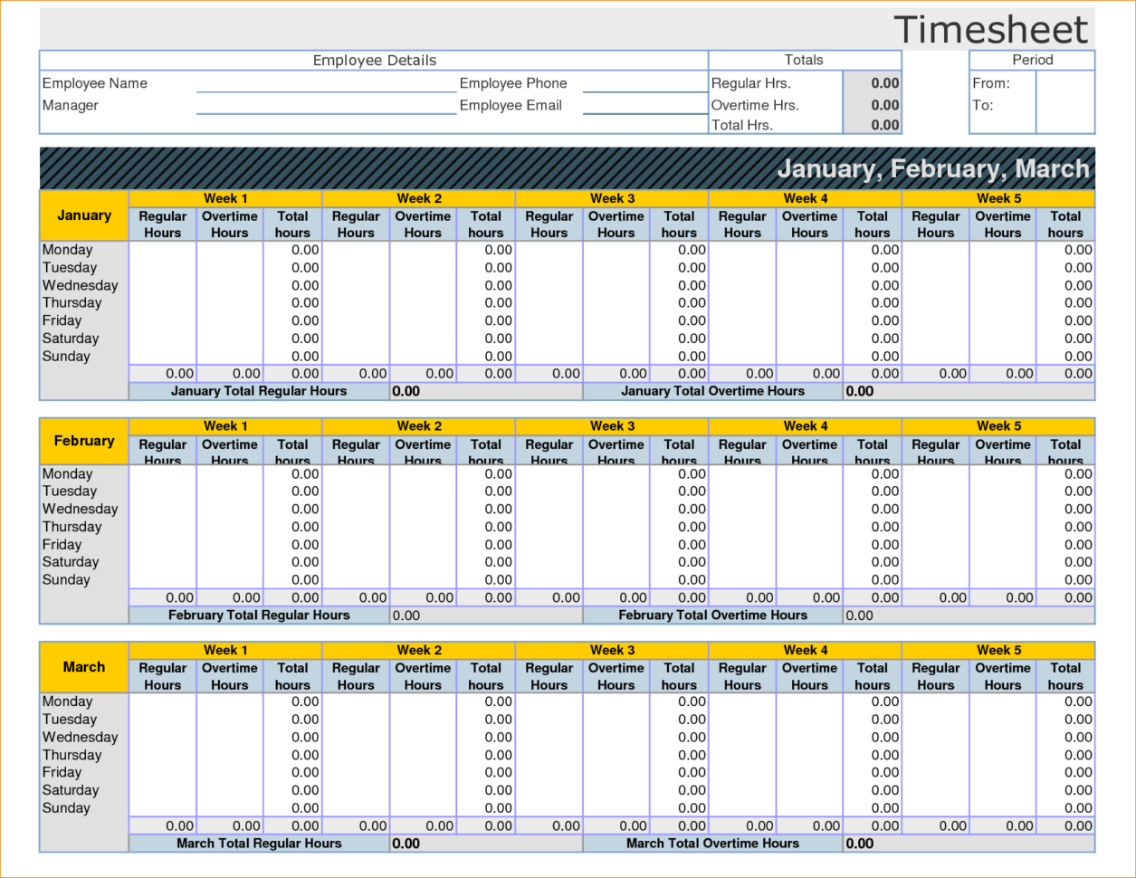 Employee Timesheet Template Excel Spreadsheet 14   Isipingo Secondary And Employee Hours Spreadsheet