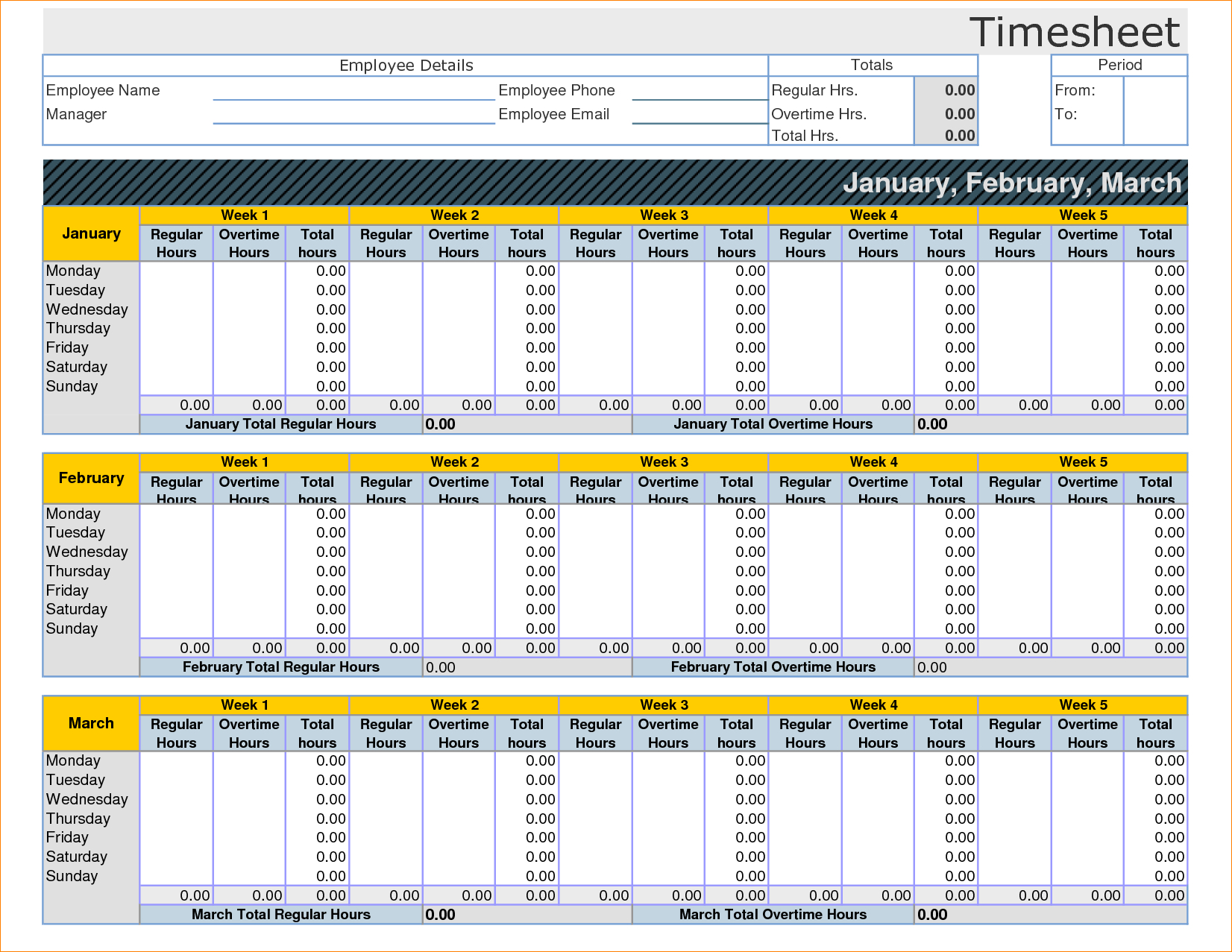 Employee Timesheet Template Excel Spreadsheet 14   Isipingo Secondary And Employee Hours Spreadsheet