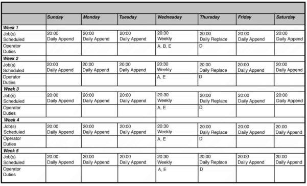 Employee Work Schedule Template Monthly 1   Infoe Link Inside Monthly Work Schedule Template