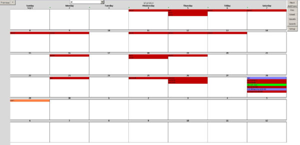 Enhanced Microsoft Excel Calendar Scheduling Database Template With Ms Excel Database Templates