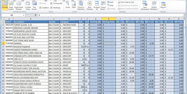 Example Of A Spreadsheet With Excel | Spreadsheets Within Excel In Ms Excel Spreadsheet Templates