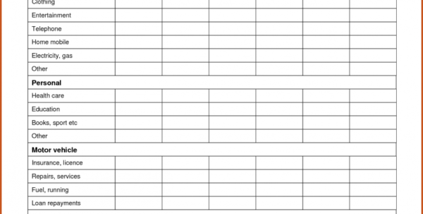 Example Of Free Personal Budget Spreadsheet Templateeetble Sopeet Throughout Sample Personal Budget Spreadsheet