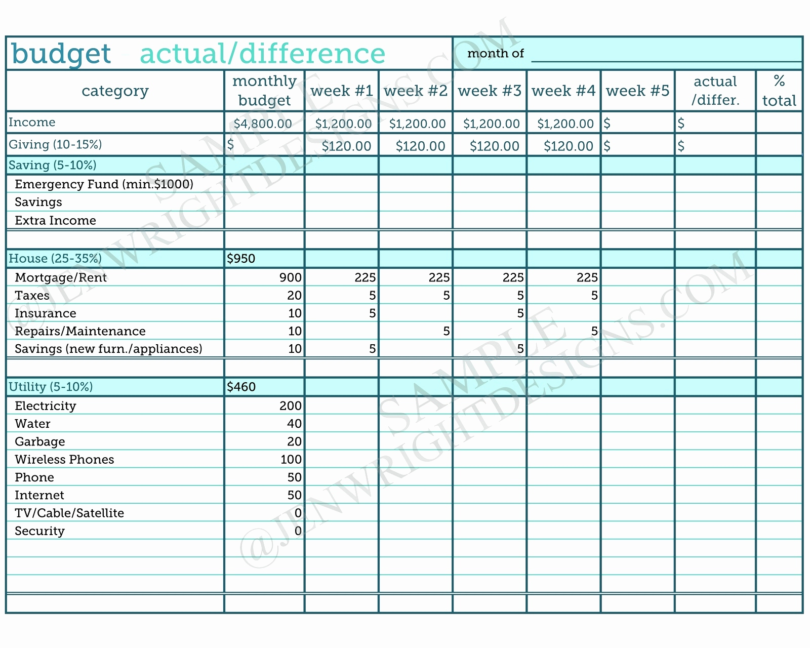 Example Of Monthly Budgeting Spreadsheet Sample Budget Excel With Samples Of Budget Spreadsheets
