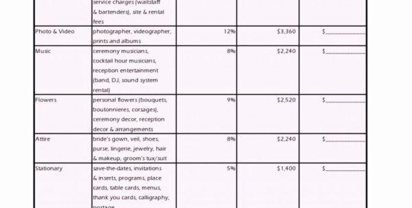 Example Of Wedding Budget Spreadsheet Forractical Awesome Bud Excel And Wedding Budget Spreadsheet