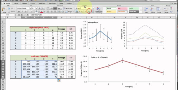 Excel Customer Database Template Normalising Data For Plotting In Excel Contact Database Template