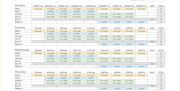 Excel Employee Schedule Template Monthly   Durun.ugrasgrup In Employee Schedule Template Excel