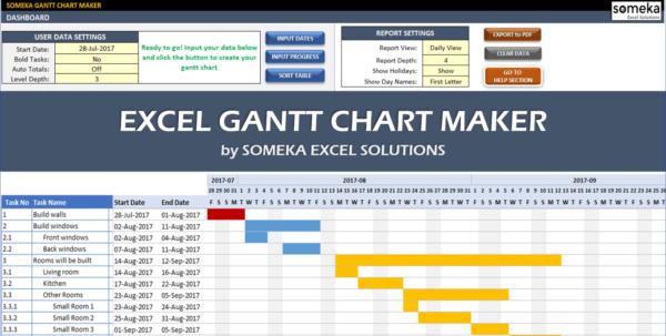 Excel Gantt Chart Maker Template   Easily Create Your Gantt Chart In And Excel Gantt Chart Template