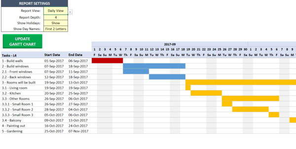 Excel Gantt Chart Maker Template   Easily Create Your Gantt Chart In For Gantt Chart Construction Template Excel