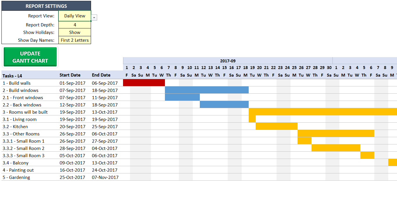 Excel Gantt Chart Maker Template   Easily Create Your Gantt Chart In Within Gantt Chart Excel Template With Dates