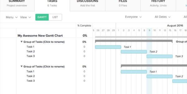 Excel Gantt Chart Template With Dependencies Download Template Free Intended For Excel Gantt Chart Template Dependencies