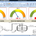 Excel: Industrial Dashboard With Semicircular Gauges | Great and Free Excel Dashboard Gauges