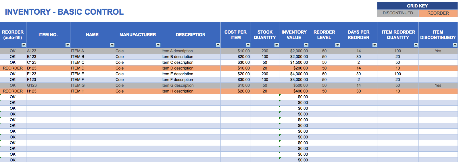 Excel Inventory Sheet   Zoro.9Terrains.co Intended For Inventory Spreadsheet Template For Excel