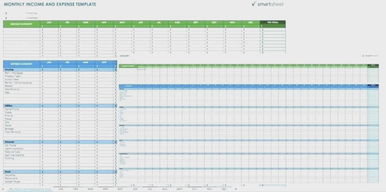 Excel Monthly Expense Report Business Spreadsheet For Expenses With With Monthly Spreadsheet Template