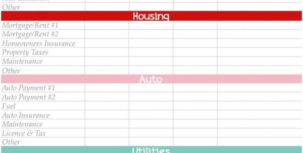 Excel Personal Budget Template Free Printable Monthly Budget Planner Inside Monthly Financial Budget Template