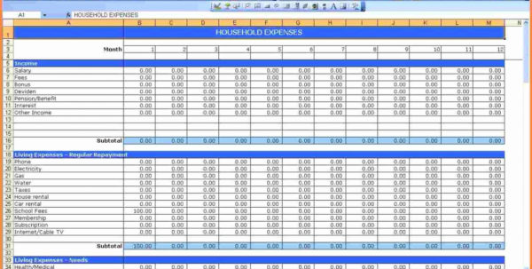 Excel Personal Expenses Template Elegant Bud Worksheet Printable Intended For Excel Spreadsheet Template For Personal Expenses