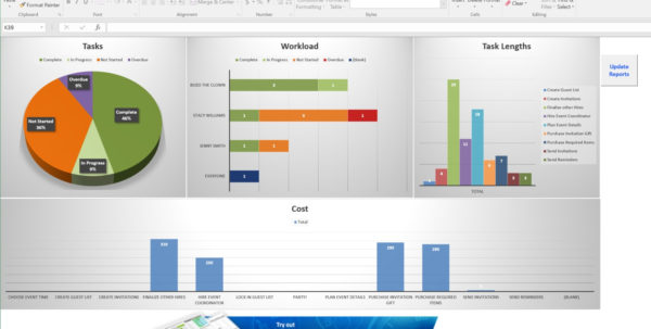 Excel Project Management Template Dashboard Projectmanager Accurate Inside Excel Project Status Dashboard Templates