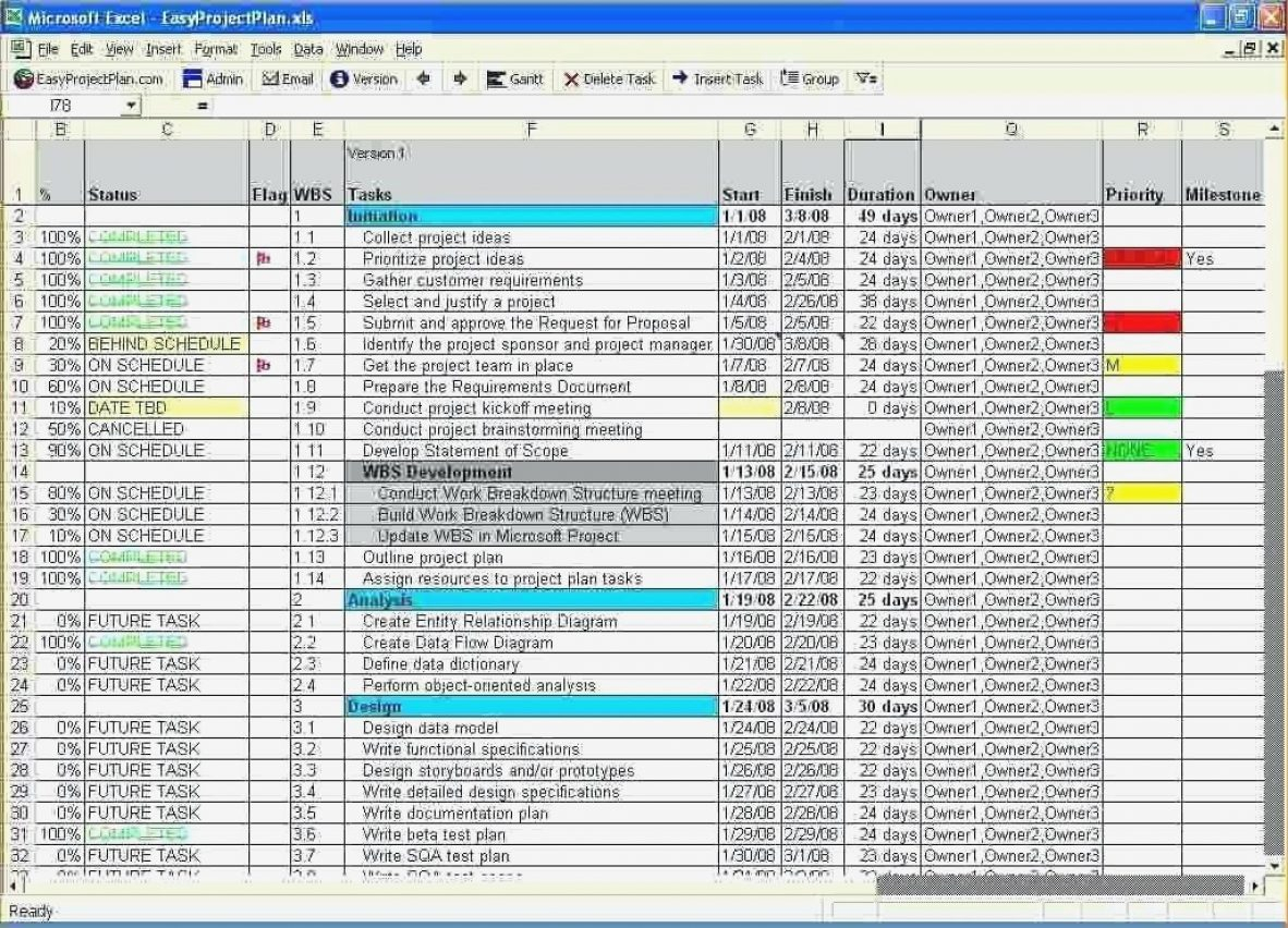 Excel Project Tracking Template Management Spreadsheet Templates And Sample Project Tracking Spreadsheet