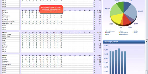 Excel Spreadsheet Budget Planner On Rocket League Spreadsheet Excel Inside Personal Monthly Budget Planner Excel
